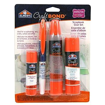 Elmers Craftbond Scrapbook Glue Set, Clear Dual Tip Pen & Extra Strength Glue Stick (E61579) 0