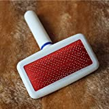 KAN DU Professional Red Puppy Cat Hair Grooming Slicker Comb Gilling Brush Quick Clean Pet, Dog Supplies Hair - Dog Grooming, Dog Brush, Cat Flea Comb, Dog Hair Trimmer Comb