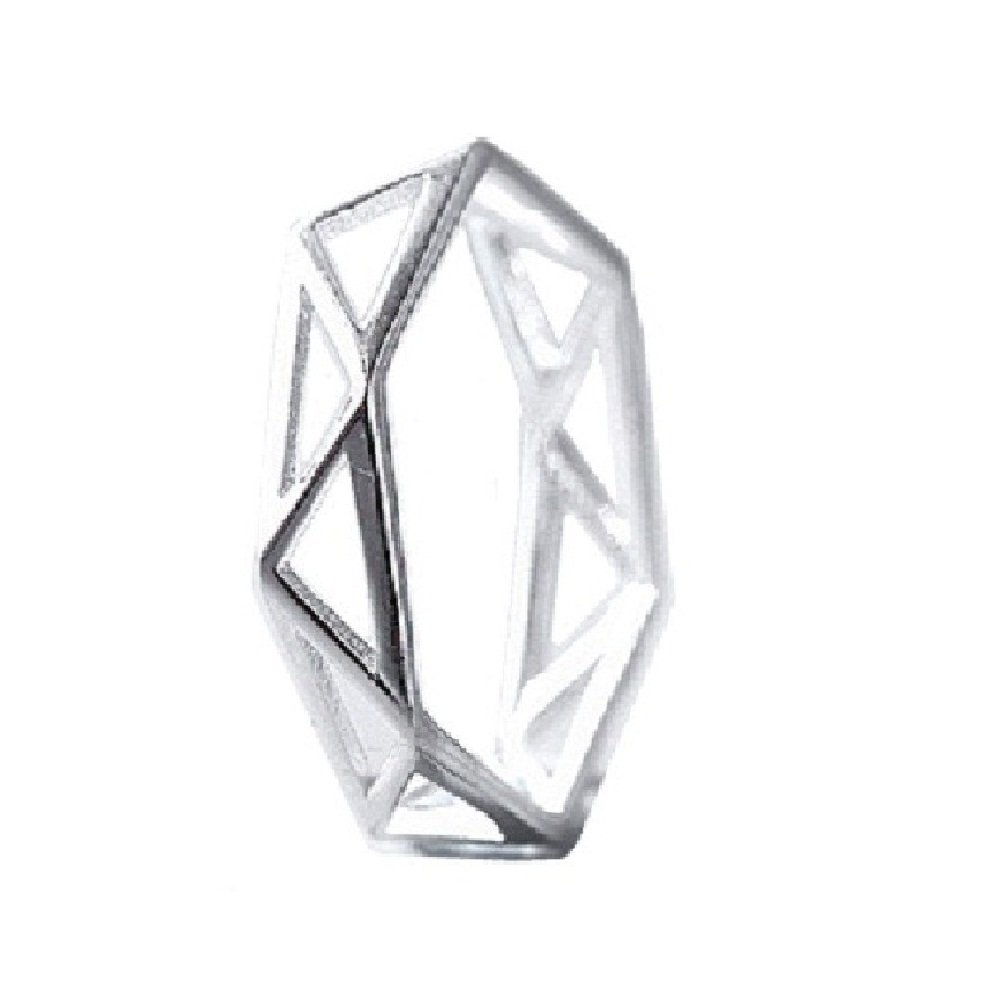 Outflower 1pcs Anello di moda geometrica femminile anello aperto moda festa gioielli regalo di compleanno argento