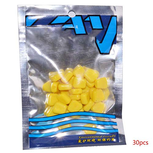 Topfire 30pcs Fake Soft Baits Corn Carp Fishing Lures Water Surface Baits for Fisher Fishing Lovers