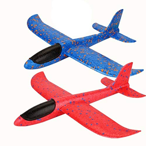 - Qvatox 2 Pack Airplane, Manual Throwing Foam Airplane [2 Flight Mode] Hand Launch Glider Plane Inertia Aircraft Outdoor Sports Toy