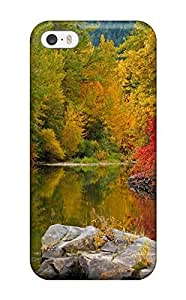 Defender Case For Iphone 5/5s, River Earth Nature River Pattern