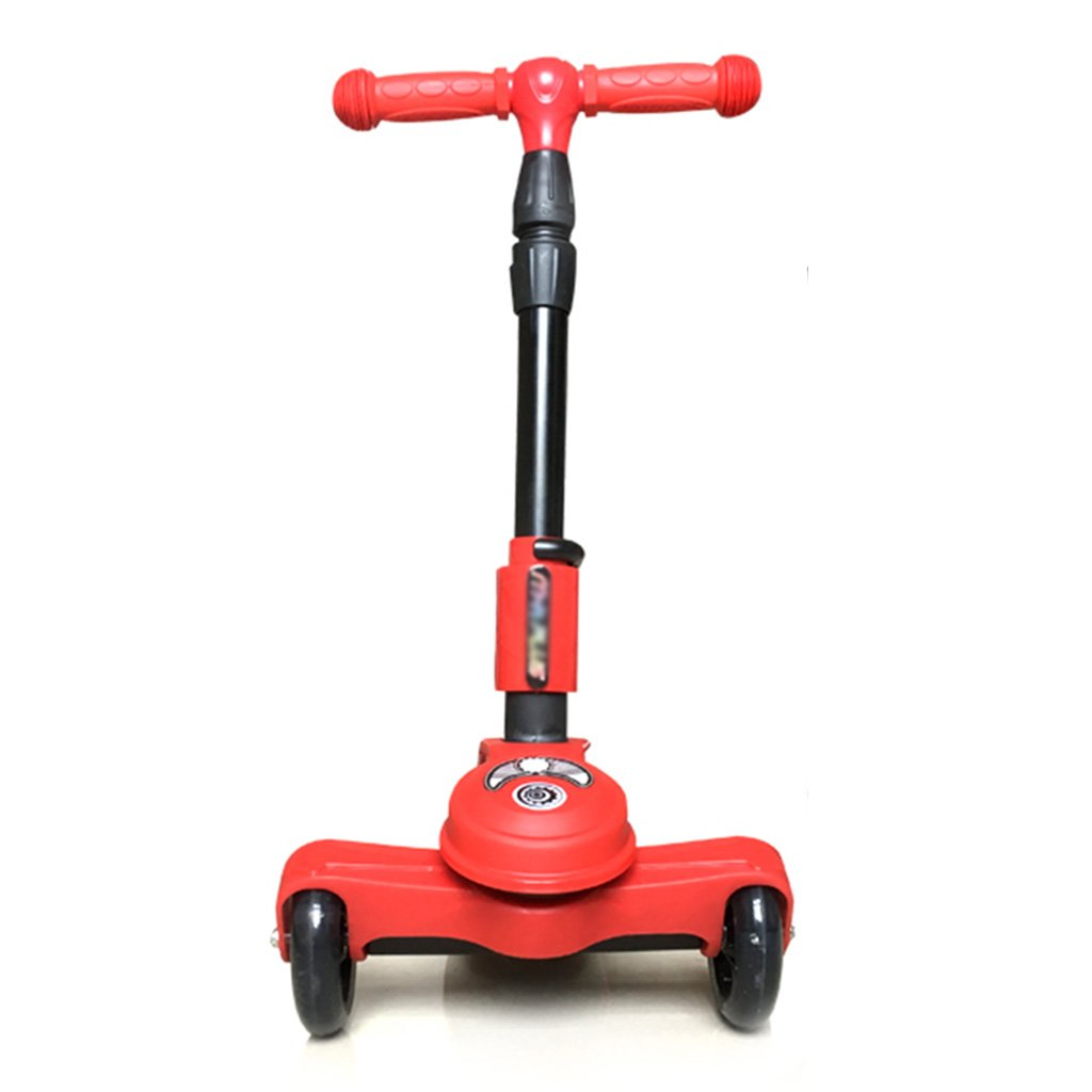 豪華 スクーター学生の多機能折りたたみリフト3輪ペダルライドタックルフラッシュホイール3-14歳(28** 63* 87センチメートル) B07FYX4547 Red B07FYX4547* Red, 積丹町:ec2b7c01 --- a0267596.xsph.ru