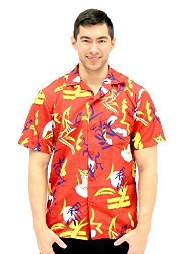 Costume Agent Scarface Tony Montana Hawaiian Adult Costume Button Up Shirt (Adult Small/Medium) by Costume -
