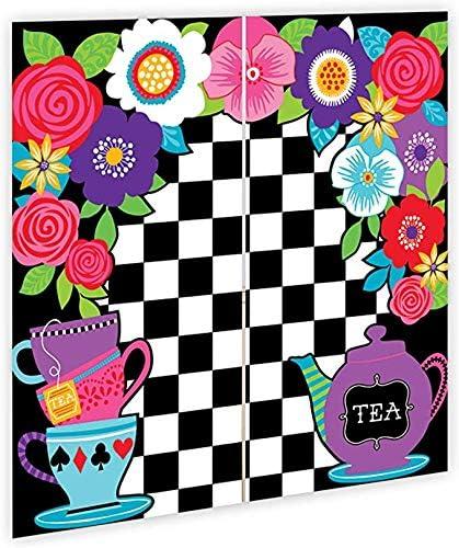 amscan 5 pies Mad Hatter Tea Party Kit de decoración de Pared Surprise Selfie Backdrop Party Kit Set Decoration Pack: Amazon.es: Juguetes y juegos