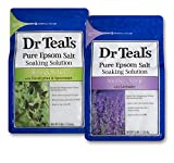 Dr Teal's Epsom Salt Bath Soaking Solution, Eucalyptus and Lavender, 2 Count, 3lb Bags - 6lbs Total