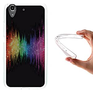 WoowCase - Funda Gel Flexible { Huawei Y6 - Honor 4A } Arco Iris Efecto Ecualizador Carcasa Case Silicona TPU Suave
