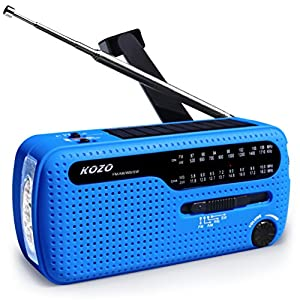51q59CGlwBL. SS300  - Best NOAA Weather Radio For Emergency By Kozo. Multiple Ways To Charge, Self Powered By Dynamo Hand Crank & Solar Panel, Long Antenna To Pick Up Reception Everywhere