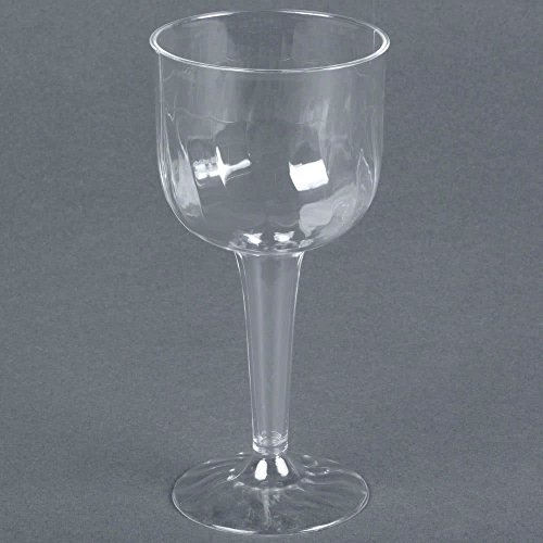 Fineline Flairware 2209 8 oz. Clear 1 Piece Plastic Wine Goblet - 96/Case