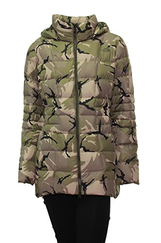 Women's The North Face Transit Down Jacket Green Camo, Medium (Transit Jacket Down)