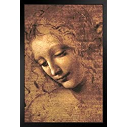 ProFrames Leonardo Da Vinci Head of A Woman La Scapigliata High Renaissance Framed Poster 12x18