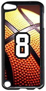 Basketball Sports Fan Player Number 08 Black Plastic Decorative iPod iTouch 5th Generation Case