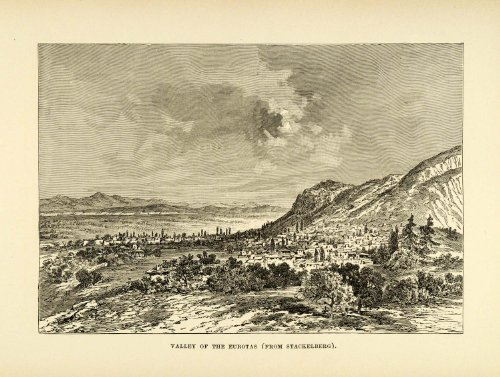 1890-wood-engraving-valley-eurotas-river-laconia-peloponnese-greece-landscape-original-engraving