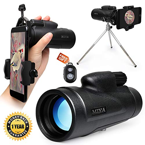 Monocular Telescope High Power,12X50 HD Dual Focus Monoculars Scope for Adults Waterproof Spotting with Cell Phone Adapter Tripod Holder for Bird Watching Hunting Camping Travelling