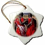 Kike Calvo Masai Mara Tribe Around The Masai Mara National Park Kenya East Africa Snowflake Porcelain Ornament, 3-Inch
