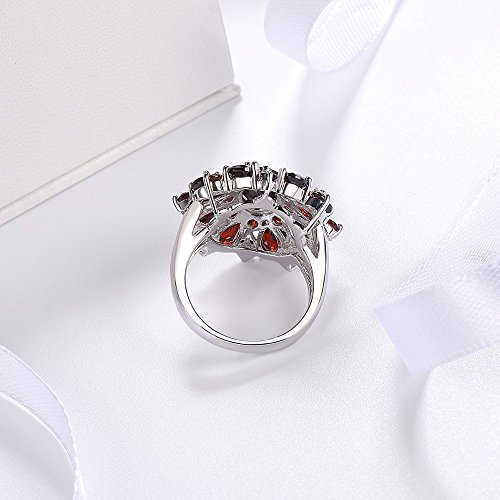 XBKPLO Rings for Women Pomegranate Ruby Diamond Wedding Accessories Jewelry Gift Size 6-10 (10) by XBKPLO (Image #4)