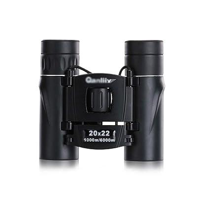 Telescopes Binoculars Travel Mirror 20x22 Standard Version HD Night Vision Goggles Black Pocket Binoculars Adult Children Binoculars Compact and Compact: Home & Kitchen