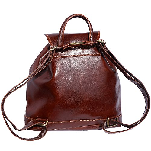 Poches 6554 À Leather Dos Avec Deux Sac Marron Externes Florence Market Amples 8B1x6v