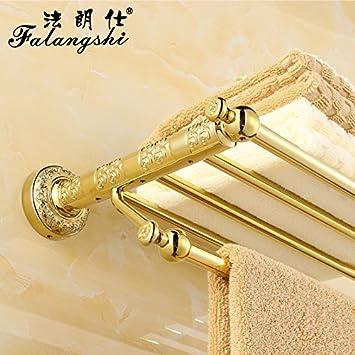 SDKKY Puntilla dorada tallada toallero coer oro rosa toallas de baño WC Baño 5 Baño estanterías colgador , Kim gold: Amazon.es: Hogar