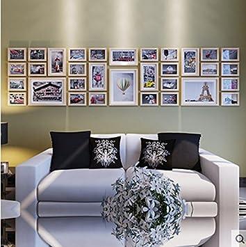 Foto Wand Holz Kreative Fotowand Wohnzimmer Grosse Fotorahmen Kombination Der Unternehmenskultur