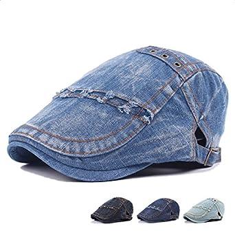 Wicemoon Men and Women Hat Cowboy Cap Sun Forward Cotton Flat Hat for Travel Shopping