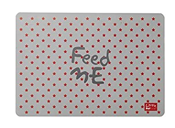 Little Petface Feeding Mat with Pattern Red Stars