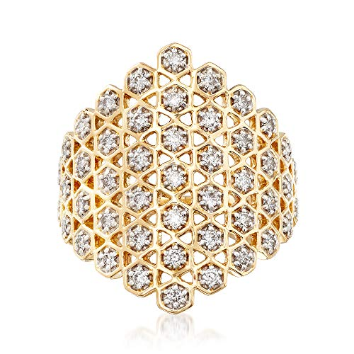 Ross-Simons 0.65 ct. t.w. Diamond Honeycomb Ring in 14kt Yellow Gold ()