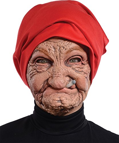 Morris Costumes Halloween Party Old Nana Latex Mask