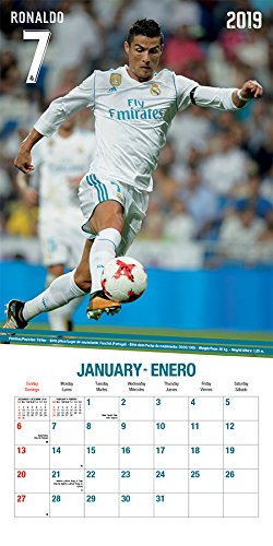2019 Real Madrid (17 month) Wall Calendar (English and ...