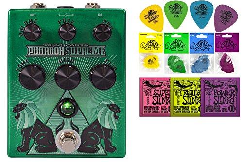 Black Arts Toneworks Pharaoh Supreme Fuzz Bundle - 2 Items: Ernie Ball Guitar Strings, 1 Dozen Dunlop Tortex Picks