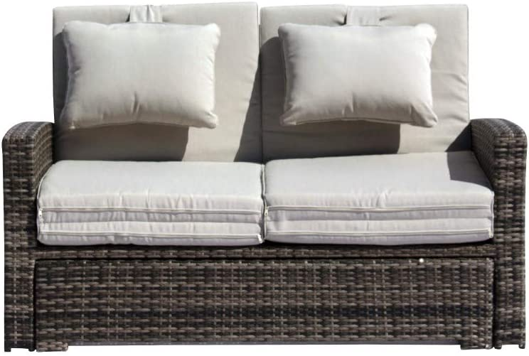 Courtyard Casual 5108 Miranda Collection Outdoor Daybed, Gray Taupe