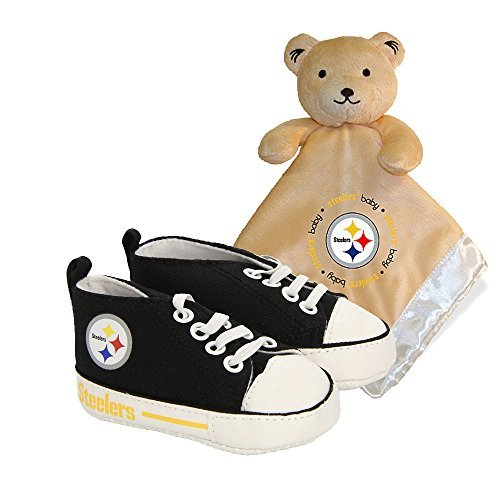 (Pittsburgh Steelers NFL Infant Blanket, Bib and Shoe Deluxe Set)