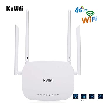 KuWFi WiFi Router inalámbrico, 4G LTE CPE Router Cat4 Router ...