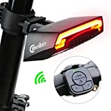 Meilan Smart Bike Tail Light X5 USB Rechargeable with Wireless Remote Turn signals Laser Beams for Moutain Bike,BMX Bike,Road Bicycle and Hybrid Bike 85 Lumens (X5 New Design)