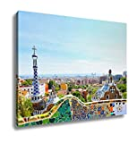 Ashley Canvas, Barcelona Spain July 25 The Famous Park Guell On July 25 20, 24x30