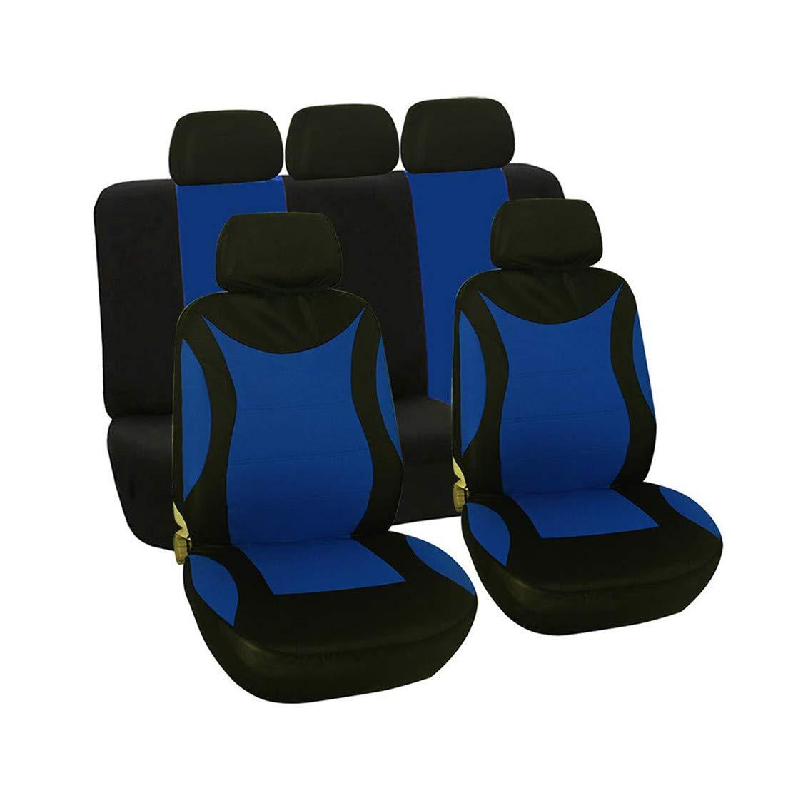 GODGETS Set Copri sedili per Auto Coprisedili Confortevoli Coprisedili Antipioggia Coprisedili Anteriori e Posteriori Universale per Auto,Nero Grigio,2 Seater Anteriore