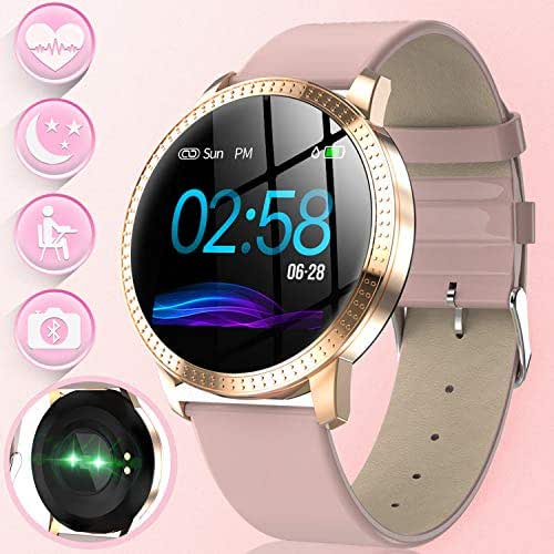 Women Smart Watch-Activity GPS Tracker Fitness Watch with Blood Pressure Heart Rate Monitor Women Girl Outdoor Waterproof Sport Watch Calorie Pedometer Camp Android IOS Smart Wristband Birthday Gifts