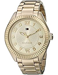 Womens 1781345 Casual Sport Gold-Plated Coin Edge Bezel Watch