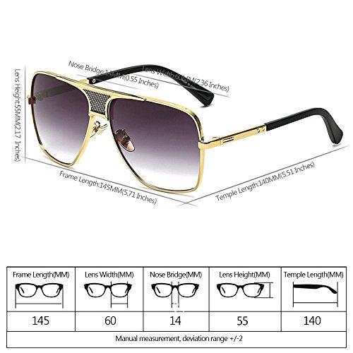 Estilo 03 Libre de del Gafas Protección al Hombres Vendimia la de UV400 la de Metálico Marco Aire XFentech sol qgTxnwB
