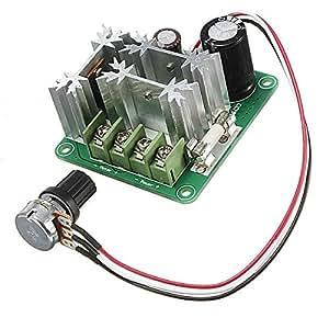 Pulso Interruptor de modulación de ancho de PWM DC Motor velocidad Regulador de control con la línea