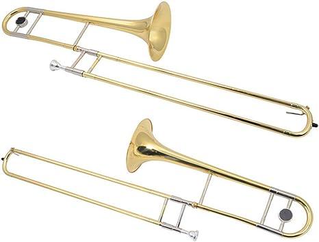 AYYNAM Trombón Estudiante BB Latón Tenor Trombón Instrumento De Latón con Estuche Rígido: Amazon.es: Deportes y aire libre
