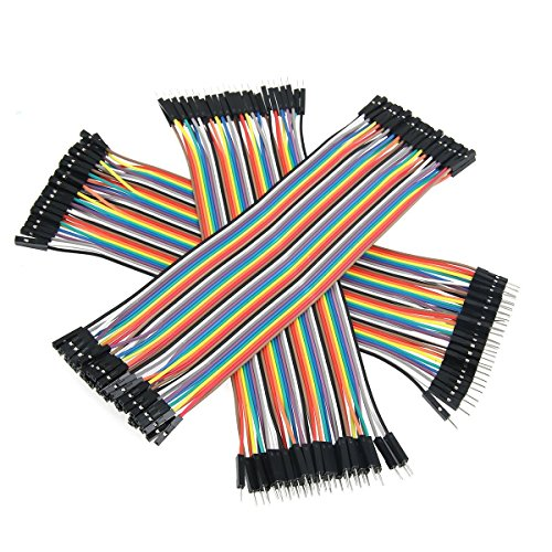 Zoostliss 120pcs Multicolored 40pin Male to Female, 40pin Male to Male, 40pin Female to Female Breadboard Jumper Wires Ribbon Cables Kit