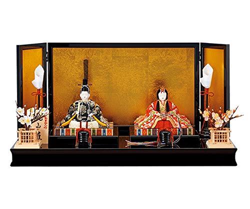 雛人形 木目込み 一秀 ひな人形 親王飾り 平飾り   B07KRST9H2
