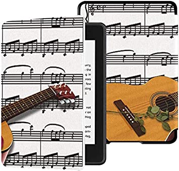 Kindle Cover Paperwhite 2018 Música Guitarra Notas Musicales ...