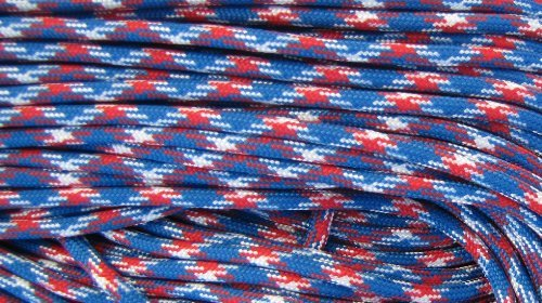 1000 Ft 550 Cord Paracord Spool - Type III Mil-Spec Commercial - 25+ Colors - Wholesale Paracord (Red White Blue) by OSS - Our School Spirit