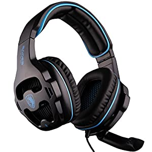 [2016 Version Headset for PS4 PC] SADES 810S Gaming Headset Headphones for PlayStation4 PS4 PC Laptop MAC with Noise Reduction microphone
