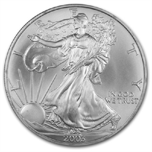 2003 - American Silver Eagle .999 Fine Silver with Our Certificate of Authenticity Dollar Uncirculated US Mint ()