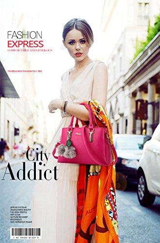 shoulder Red handbag PU NICOLE casual Rose messenger amp;DORISnew fashion bag bag leather FT1wqpS