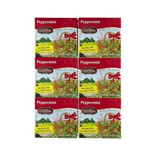 CELESTIAL SEASONINGS HERB TEA,PEPPERMINT, 40 BAG