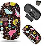Liili Wireless Mouse Travel 2.4G Wireless Mice with USB Receiver, Click with 1000 DPI for notebook, pc, laptop, computer, mac book best bookmark tags and srcapbook elements IMAGE